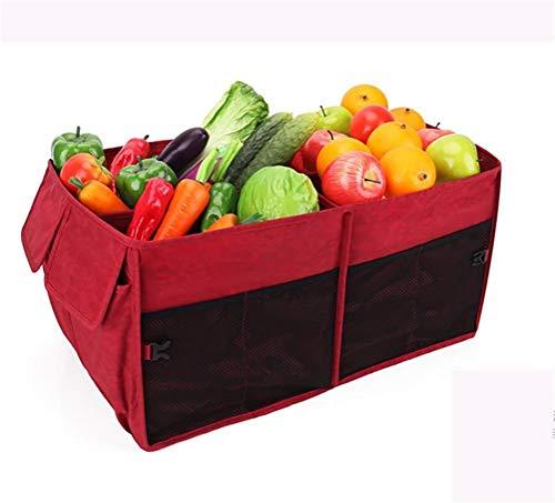 J- Organiseurs Pour Voiture Pliable Portable Multi Compartments Trunk Organisateur, Noir Boîte De Rangement Voiture (Color : D)
