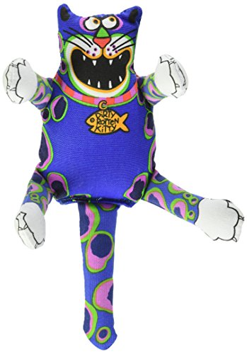 Fat Cat Multicolored Assorted Styles Nylon Squeak Dog Toy Small