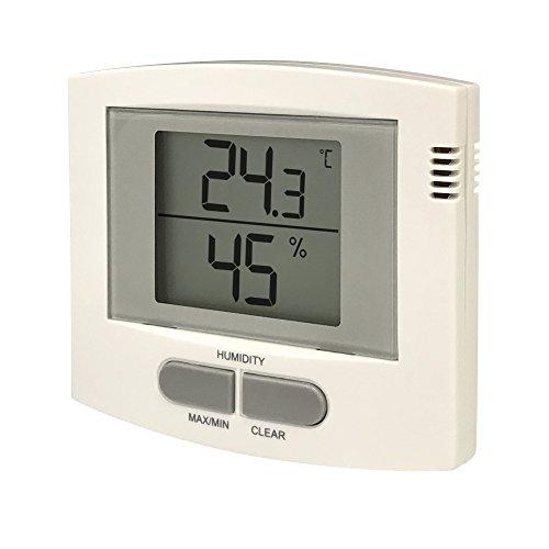 カスタム (CUSTOM) デジタル温湿度計 卓上型 壁掛け金具つき 510H