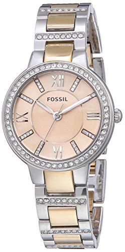 Fossil Orologio Analogico Quarzo Donna con Cinturino in Acciaio Inossidabile ES3405
