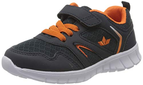 Lico Skip VS Jungen Sneaker, Marine/ Orange, 36 EU