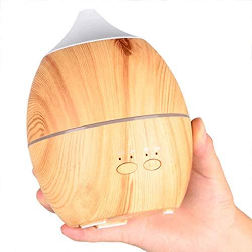 miwaimao Humidificador para el hogar 300 ml ultrasónico grano de madera Silencioso difusor humidificador 7 luces LED se apagan automáticamente (color, B), A