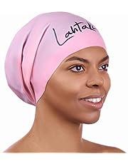 Lahtak Czepek pływacki do długich włosów – bardzo duży czepek pływacki dla kobiet i mężczyzn – czepek pływacki – wysokiej jakości wodoodporna czepek silikonowy – dredloki, przedłużenie włosów afro