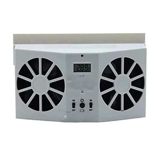 Climatización Refrigeradores evaporativos Coche Refrigerador de refrigerador, ventilación de escape solar y batería, con aire acondicionado Auto delantero / trasero Aire acondicionado Vent de aire Ven