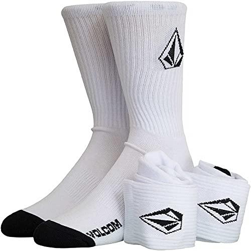 Volcom Full Stone 3er Pack Crew Socken (43, white, numeric_43)