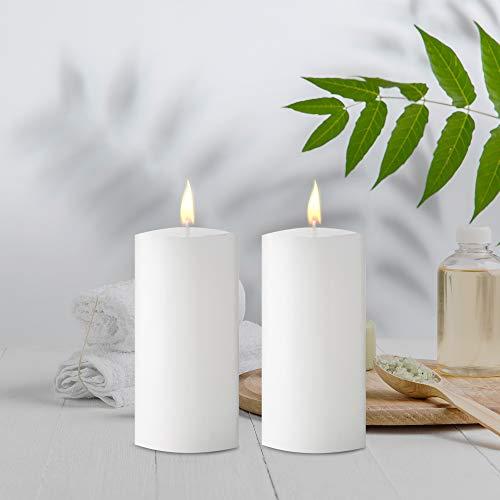 AuraDecor Juego de 2 velas blancas sin aroma de 36 pulgadas cada una (90 horas cada una)