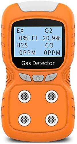SLL Detector de Gas Combustible portátil - Analizador de Gas, Detector de Alta precisión, medidor de Fugas de Gas Combustible, Naranja La Seguridad (Color : Orange)