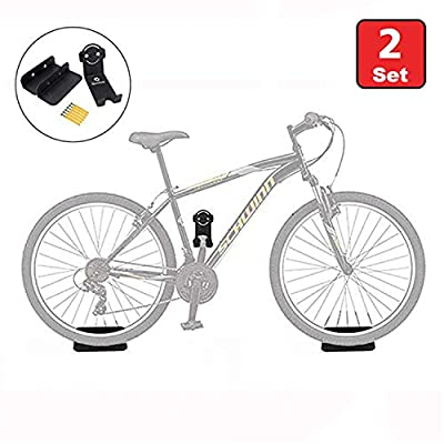 Horizontal Bike Wall Mount Hanger, Heavy Duty Colorful Bike Storage Rack Bicycle Holder for Garage and Apartment,Safe and Secure Bike Hook for Road, Mountain or Hybrid Bikes Indoor Outdoor