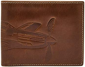 Fossil Men s Danny Leather Bifold Wallet Dark Brown product image