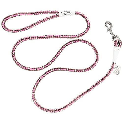 Coastal - K-9 Explorer - Reflective Braided Rope Snap Dog Leash, Rosebud, 06'