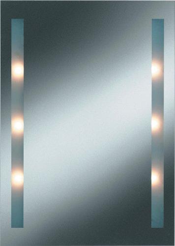 Kristall-Form 48000057 Daylight I - Specchio con luci, con bordi levigati e lucidati e settori luminosi sabbiati, dimensioni: 50 x 70 cm