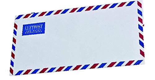 25 Luftpost Briefumschläge Din lang ohne Fenster