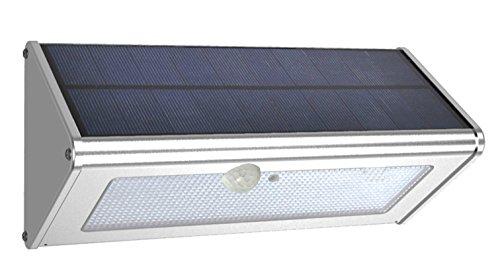 Leyoda 1100 Lumens (Max), Luce Solare Impermeabile All'aperto 4500mah 46 Ha Una Lega di Alluminio Alloggi, 180 PIR Sensore Luce Wireless, Orto, Giardino, Ponte - Luce Bianca