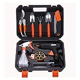 Poxcap Electric Glue Gun Garden Tool Set Kit de herramientas de jardín con caja de fusión en caliente Gatillo Stick Glue para Hobby Craft Mini DIY (10 piezas)