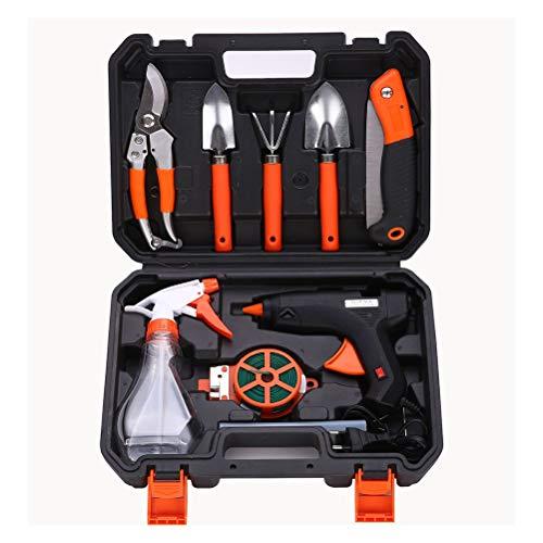 Calayu - Juego de 10 herramientas de jardín, incluye pistola de encolado...