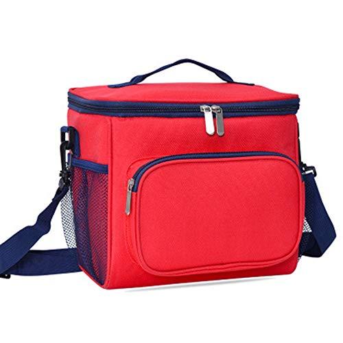 Kühltasche, Oxford-Stoff, einschultriger Lunchtasche, Picknick-Rucksack, Isoliertasche rot