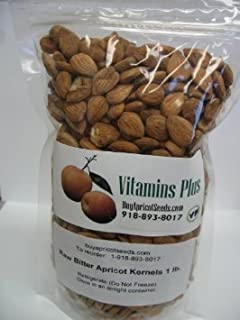 Apricot Kernels (Seeds) 1LB Bag Raw and Bitter