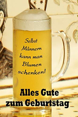 Yabue Geburtstag Foto-Karte Humor Grußkarte Männer Bier Blume 16x11cm