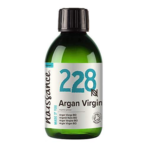 Naissance Huile d'Argan du Maroc BIO (n° 228) - 250ml - 100% pure, naturelle - pressée à froid et non-raffinée - végane, sans hexane et sans OGM - anti-âge et antioxydante