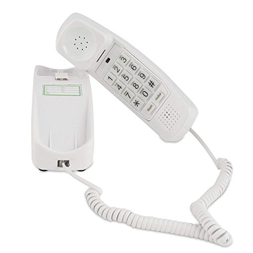 Corded Phone - Phones for Seniors - Phone for Hearing impaired - Choctaw White - Retro Novelty Telephone - an Improved Version of The Princess Phones in 1965 - Style Big Button - iSoHo Phones