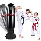 JanTeelGO Saco de Boxeo, Saco de Boxeo de pie de 160 cm para un Rebote inmediato para Practicar Karate, Taekwondo y aliviar Pent Up Energy para Adultos y niños(Negro-D)