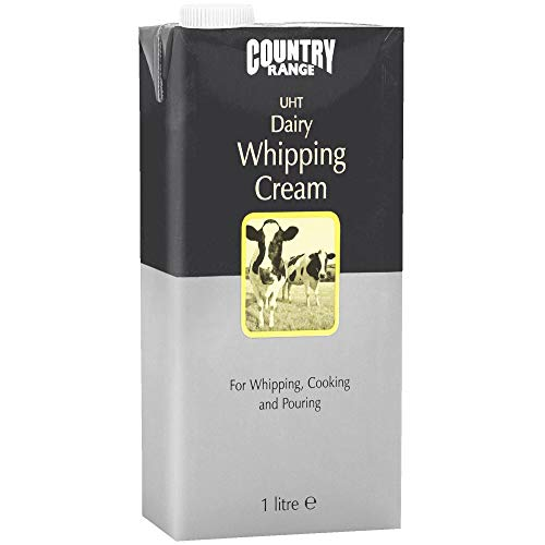Country Range UHT Dairy Whipping Cream - 1x1ltr