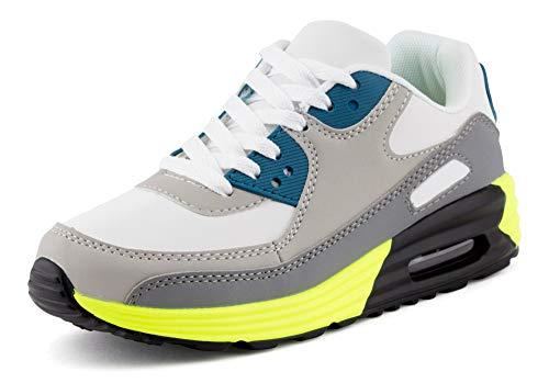 Fusskleidung Unisex Damen Herren Sportschuhe Übergrößen Laufschuhe Turnschuhe Neon Sneaker Schuhe Weiß Grau Grün Grün EU 42