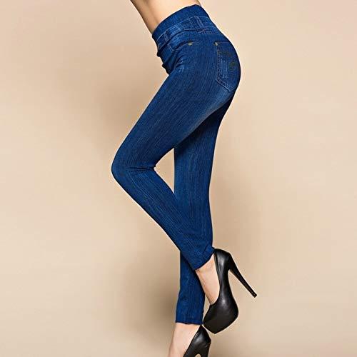 Mdsfe bedrukte yogabroek vrouwen duwen sportkousen met leggings sport fitness panty hoog X-Large lichtblauw 4-A252