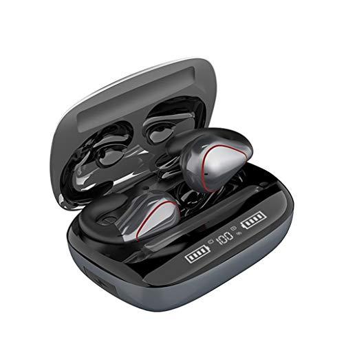 SGZC Auriculares Inalambricos Deportivos Bluetooth 5.0 Impermeable Cascos Oreja Colgante Conducción ósea con MicGray