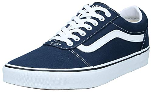 Vans Herren Ward Sneakers, Blau (Canvas) Dress Blues/White Jy3, 44 EU