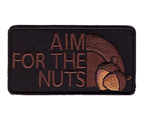 Titan One Europe Hook Fastener Aim for The Nuts 2nd Amendment Rights Funny Tactical Morale Gear Patch Klettband Taktisch Aufnäher
