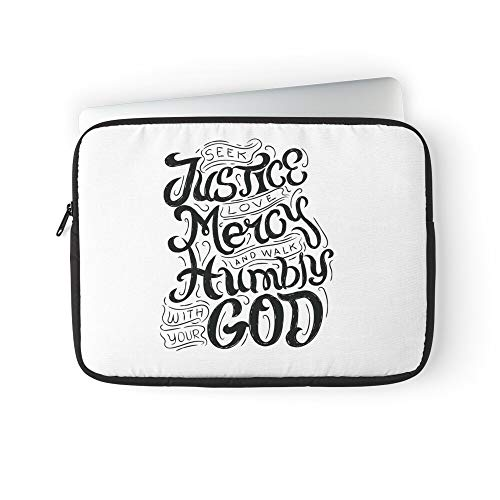 Christian Design God Religion Religious Bible Great Faith Laptop Sleeve Case Cover Handbag for MacBook Pro/MacBook Air/Asus/Dell/Lenovo/Hp/Samsung/Sony Etc.