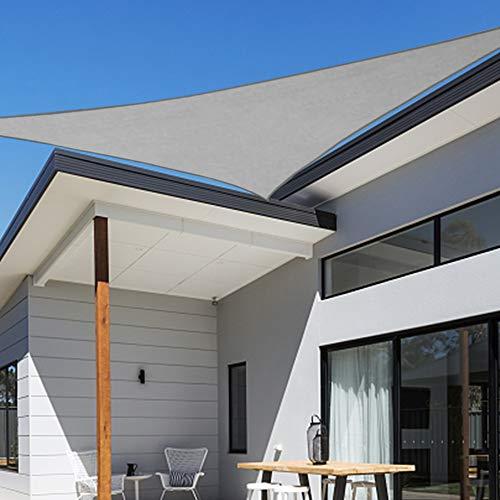 Shade&Beyond 12'x12'x17' Sun Shade Sail Triangle UV Block for Yard Patio Lawn Garden Deck Light Grey