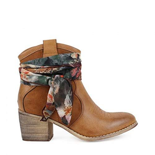 Bota Cowboy Chika10 Lily 02 Cuero - Chika10