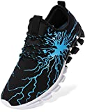 BRONAX Walking Shoes for Men Designer Size 7 with Support Blue Casual Slide on Tennis Running Stylish Fashion Sneakers Shoes