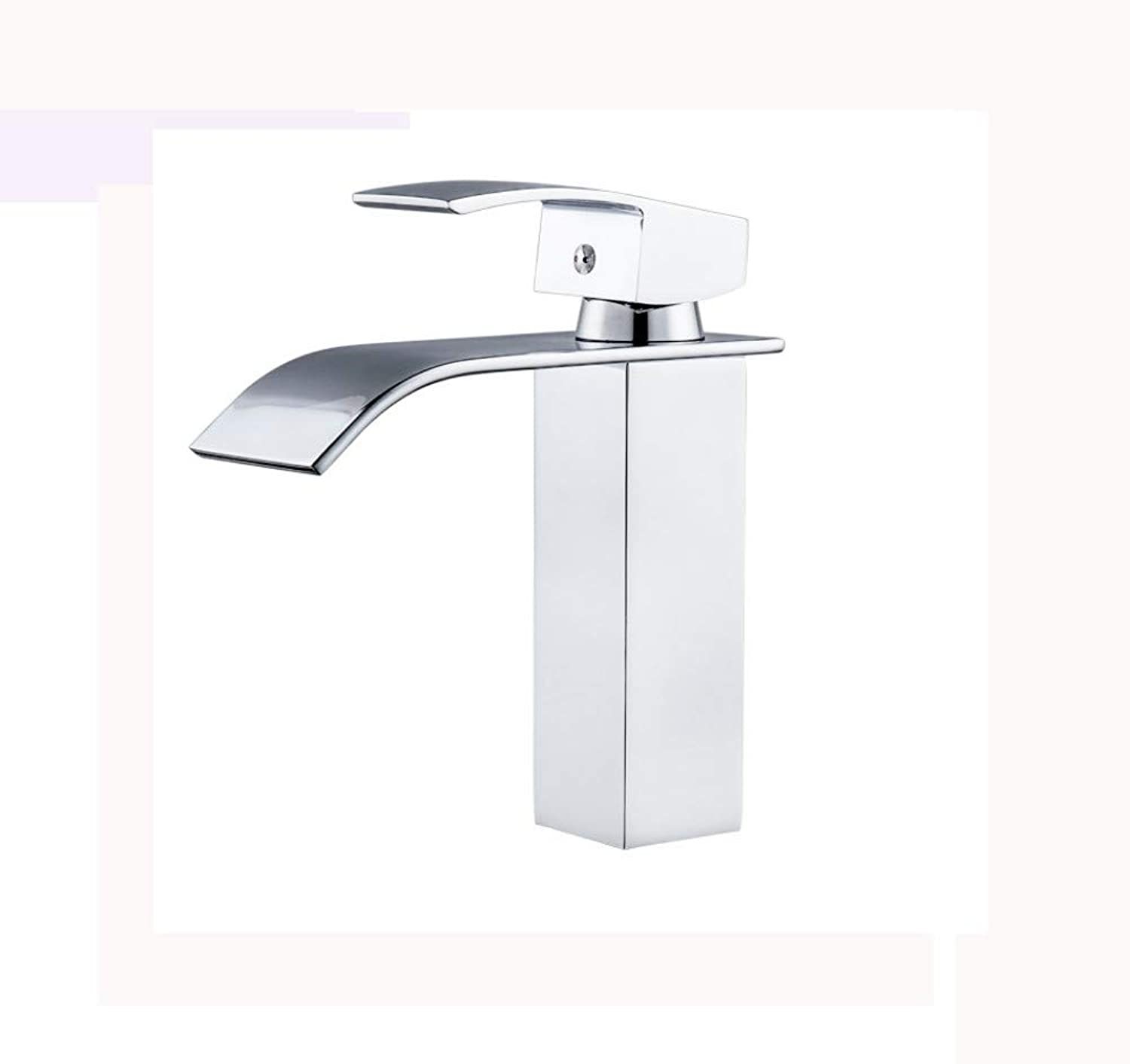 Faucet Four Sides Basin Faucet Wide Mouth Waterfall Bathroom wash Basin hot and Cold Faucet