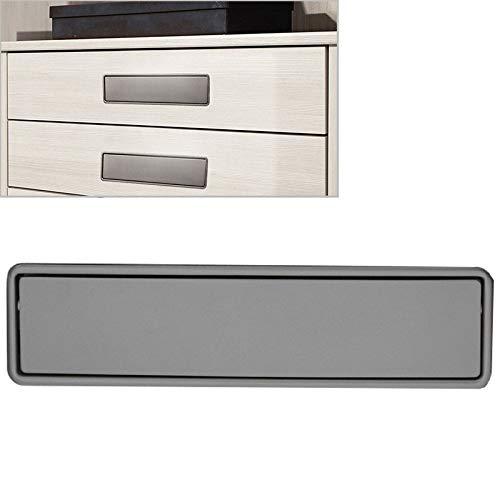 Kabinett Möbelbeschläge Einfach Kleiderschrank geschlitzt Scrub Griff verdecktem Einbau-Schublade Invisible Griff, Lochabstand: 160 mm (Schwarz) (Color : Grey)