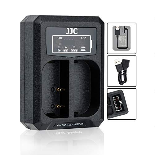 USB Dual Akku Ladegerät Adapter für Panasonic DC-S5 G9 GH5S GH5 GH4 GH3, Sigma sd quattro, sd quattro H für Panasonic DMW-BLF19 DMW-BLK22, Sigma BP-61 Akku