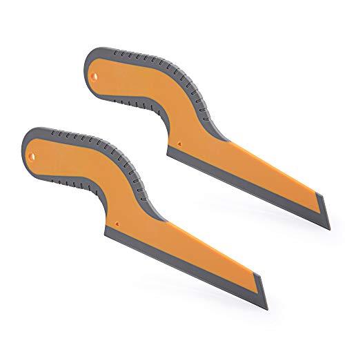 EHDIS Limpiacristales de silicona, 2 unidades, limpiador manual para ventanas de coche, espejo de baño, cocina