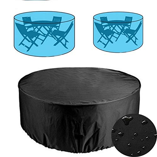 Tarp Tarpaulin Round Outdoor Garden Furniture Rain Cover Waterproof Oxford Sofa Protection Garden Patio Rain Snow Chair Dust Proof Covers Plant Covers MDYHJDHYQ (Color : Black, Size : 128x71CM)
