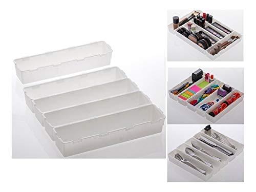 Kit 10 Organizador Modular Talheres Gaveta Maquiagem Caneta