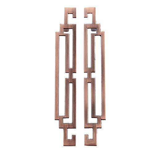 Uchwyt do wyciągania szafki kuchennej gałki do szuflad akcesoria meblowe (2 szt., 128 mm czerwony brąz)