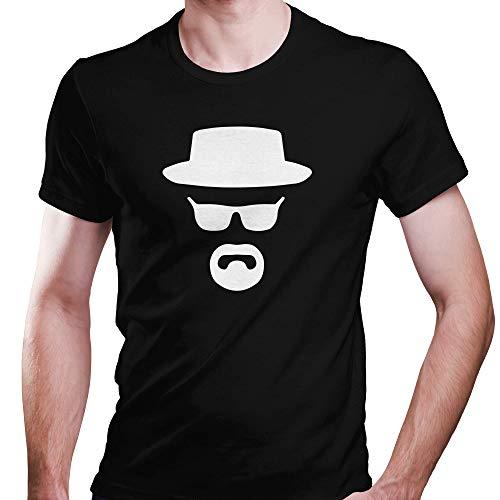 DragonHive Herren T-Shirt Braking Bad Walter White Hat Logo Chemiker Fun Arbeitskleidung, Größe:3XL, Farbe:Schwarz