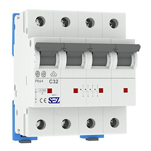 SEZ Leitungsschutzschalter C 32A 4P 3P+N 10kA VDE C32A Sicherungsautomat Sicherung PR64 0099732 SEZ 1941