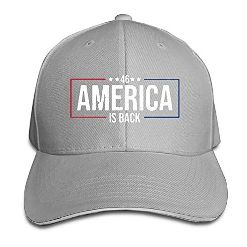 XCNGG America is Back - Día de la inauguración 2021 Sombreros de papá Ajustables Gorra de Camionero Sandwich Gorra con Visera para el Sol al Aire Libre