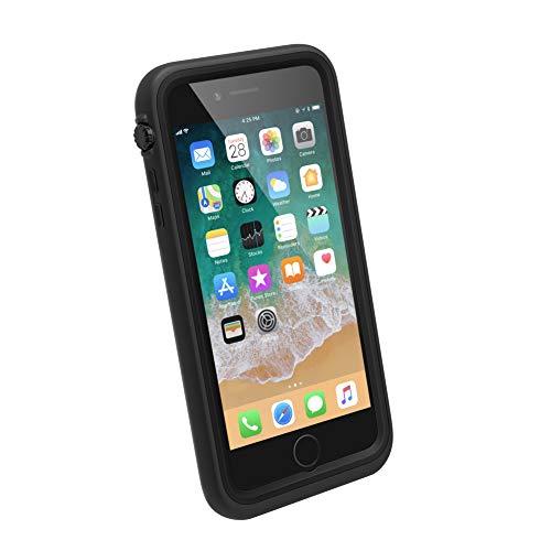 Catalyst Funda Impermeable iPhone 8 Plus con Correa, Material de Grado Militar a Prueba de Impactos y caídas, natación, Accesorios para cruceros, iPhone 8 Plus Waterproof Case - Negro