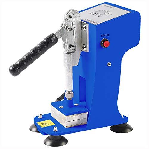 Slsy Mini Personal Heat Press Machine, 770lbs Max Pressing Force Manual Heat Presser, 2x3 Inch Heat Platen, Digital Control Panel Sublimation Press Machine (Cool Blue)