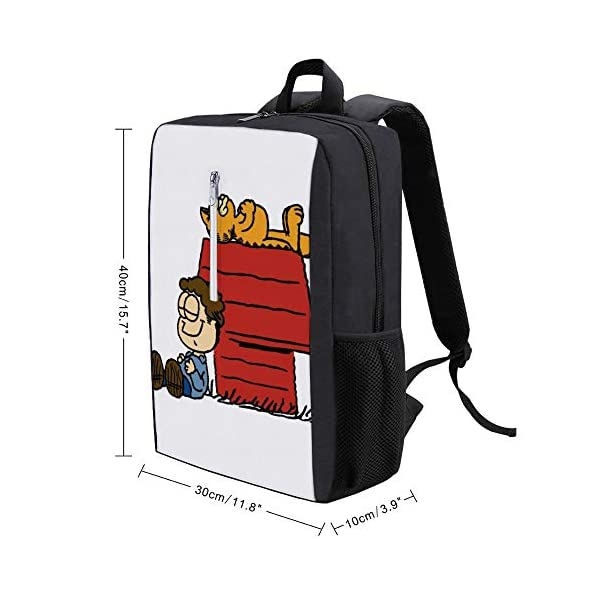41rxVAHSEOL. SS600  - Jon Brown Garfield Snoopy Peanuts Mochila para portátil con puerto de carga USB
