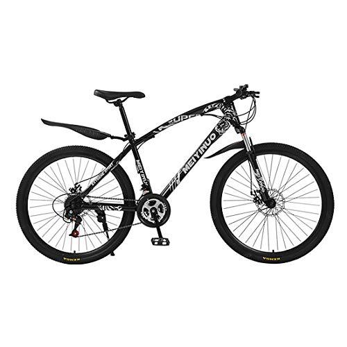 JiAODIE Bicicleta híbrida de carretera para hombre y mujer, 21 velocidades, 30 radios de freno de disco doble, acero de alto carbono, varios colores