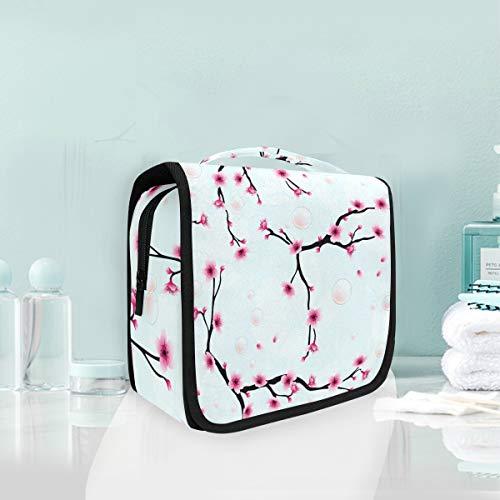 Maquillage Sac Cosmétique Portable Hiver Arbre Fleur Nature Voyage Pochette De Stockage Trousse De Toilette pour Femmes dame